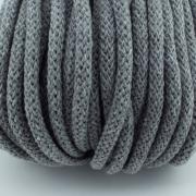 Baumwollkordel grau 5mm mit Kern