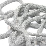 50 Meter Baumwollkordel grau 5 mm