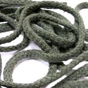 50 Meter Baumwollkordel oliv olivgrün 5 mm