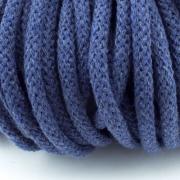 Baumwollkordel rauchblau 5mm mit Kern