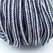 Baumwollkordel dunkelblau weiß 5mm mit Kern