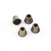 4 Stück Kordel-Endstück aus Metall altmessing