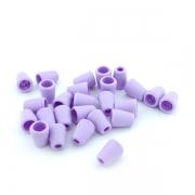 10 Stück Kordelenden lila hell