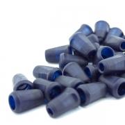 10 Stück Kordel-Endstück dunkelblau