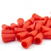 10 Stück Kordel-Endstück rot