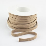 Flachkordel 10mm Polyester beige