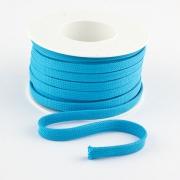 Flachkordel 10mm Polyester hellblau