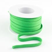 Flachkordel 10mm Polyester hellgrün