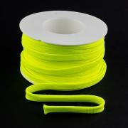 Flachkordel 10mm Polyester neon gelb