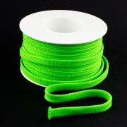 Flachkordel 10mm Polyester neon grün