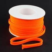 Flachkordel 10mm Polyester neon orange