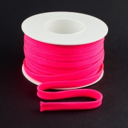 Flachkordel 10mm Polyester neon pink