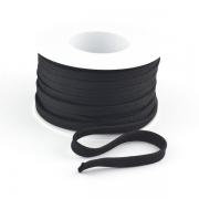 Flachkordel 10mm Polyester schwarz