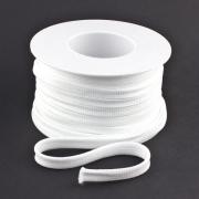 Flachkordel 10mm Polyester weiß