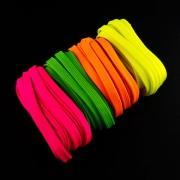 4 x 5m Flachkordel-Set 10mm Neon