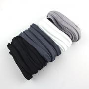 4 x 5m Flachkordel-Set 10mm black + white
