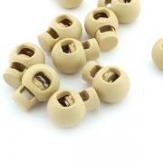 10er Pack Kordelstopper beige rund