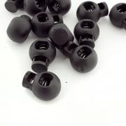 Kordelstopper 18mm schwarz rund