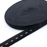 Lochgummi 20mm schwarz