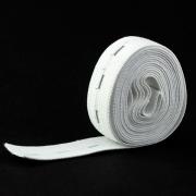 100m Lochgummi 20mm weiß