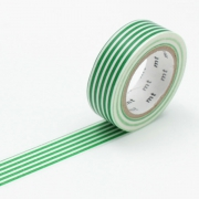 10m Washi Tape 15mm Border Evergreen