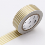 10m Washi Tape 15mm Border Gold