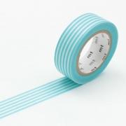 10m Washi Tape 15mm Border Pastel Blue