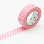 10m Washi Tape 15mm Border Peach
