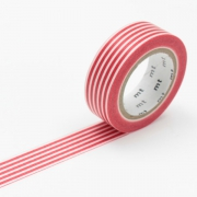10m Washi Tape 15mm Border Red