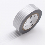 10m Washi Tape 15mm Border Silver