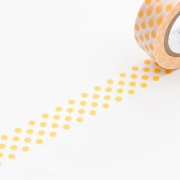 10m Washi Tape 15mm Dot Apricot