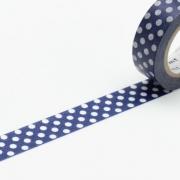 10m Washi Tape 15mm Dot Blue Base