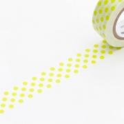 10m Washi Tape 15mm Dot Moegi