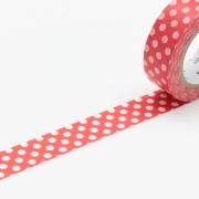10m Washi Tape 15mm Dot Red Base