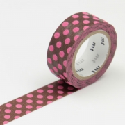 3m Flocky Tape mt fab 15mm Dot Brown + Pink