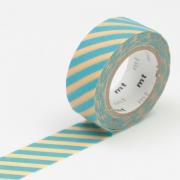 3m Flocky Tape mt fab 15mm Stripe Cream + Mint