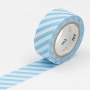 3m Flocky Tape mt fab 15mm Stripe Light Blue + White