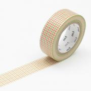 10m Washi Tape 15mm Hougan Green x Orange