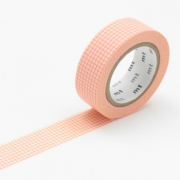 10m Washi Tape 15mm Hougan Peach on Cream