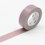10m Washi Tape 15mm Hougan Pink on Gray