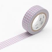 10m Washi Tape 15mm Hougan Purple x Gray
