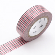 10m Washi Tape 15mm Hougan Red x Black