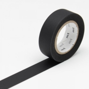 10m Washi Tape 15mm Matte Black