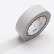 10m Washi Tape 15mm Pastel Gray