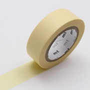 10m Washi Tape 15mm Pastel Yellow