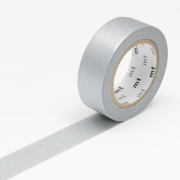 10m Washi Tape 15mm Silver
