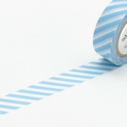 10m Washi Tape 15mm Stripe Baby Blue