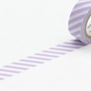 10m Washi Tape 15mm Stripe Lilac
