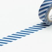 10m Washi Tape 15mm Stripe Marine Blue