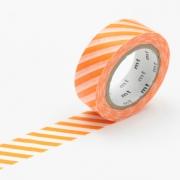 10m Washi Tape 15mm Stripe Orange